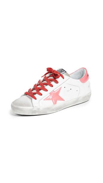 Golden Goose Superstar Sneakers in pink / white