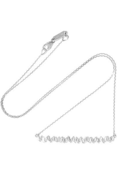 Suzanne Kalan - 18-karat White Gold Diamond Necklace
