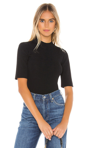 BB Dakota Cant Tank It Ribbed Top in Black