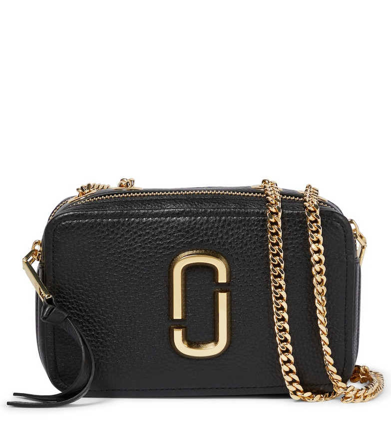 The Marc Jacobs The Glam Shot 21 leather camera bag in black