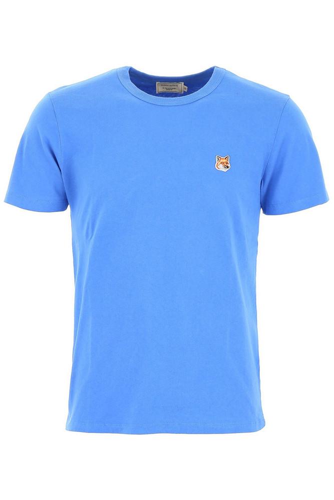 Maison Kitsuné Maison Kitsuné T-shirt With Fox Patch in blue