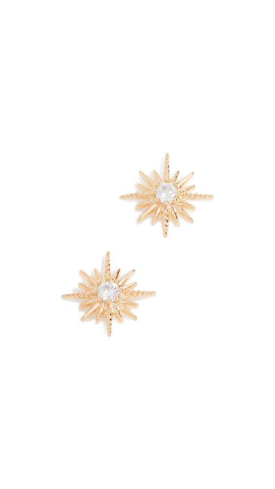Shashi Celestine Stud Earrings in gold