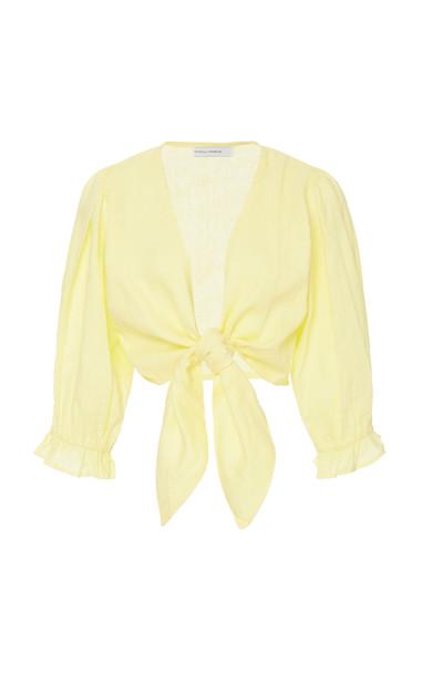 Faithfull The Brand Jacinta Top Size: M in yellow