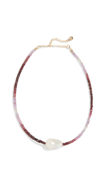 Brinker & Eliza Guilty Pleasure Necklace in pink / multi