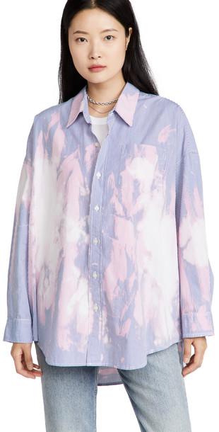 R13 Bleached Drop Neck Shirt