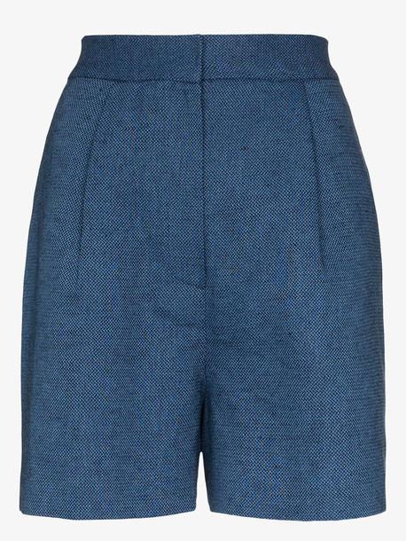 LVIR high waist shorts in blue