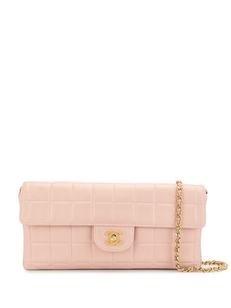 Chanel Pre-Owned 2000s Choco Bar shoulder bag in pink