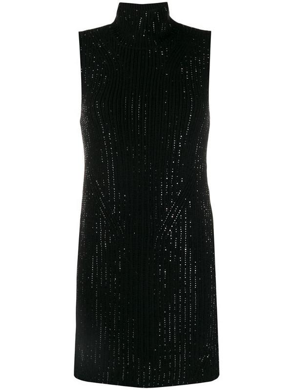 Ermanno Scervino embellished knitted mini dress in black