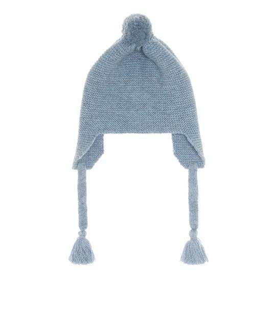 Il Gufo Baby wool beanie in blue
