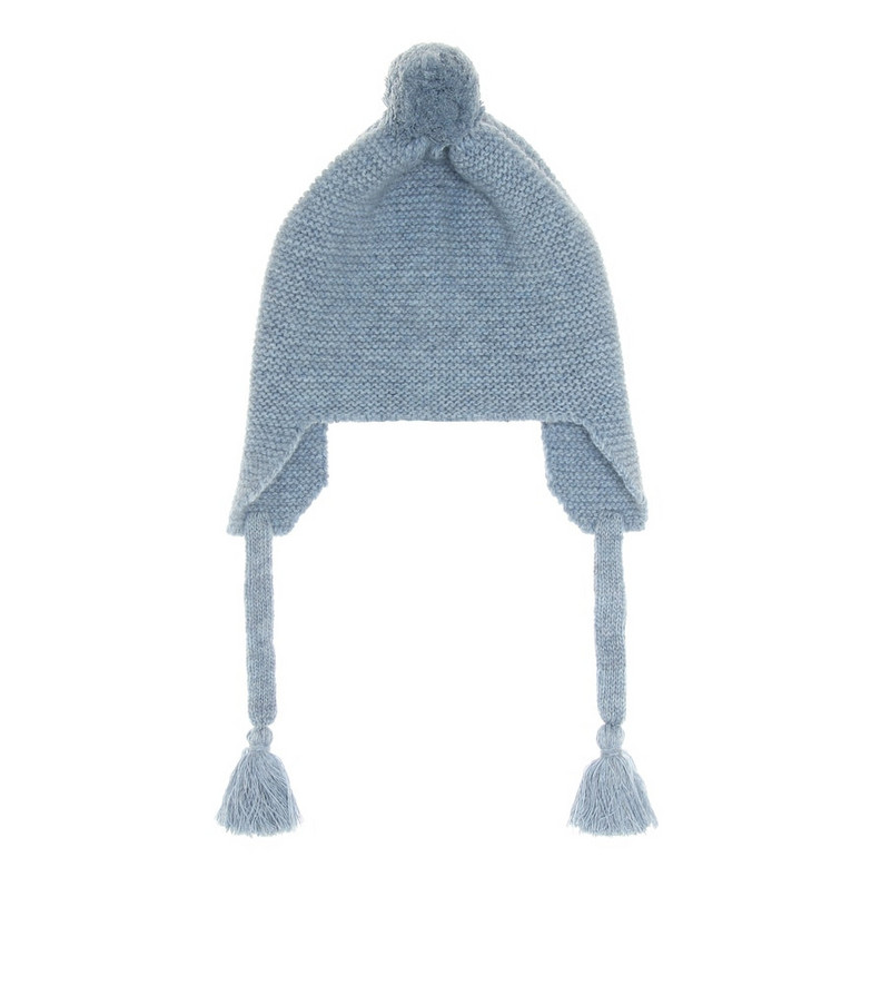 Il Gufo Baby wool beanie in blue