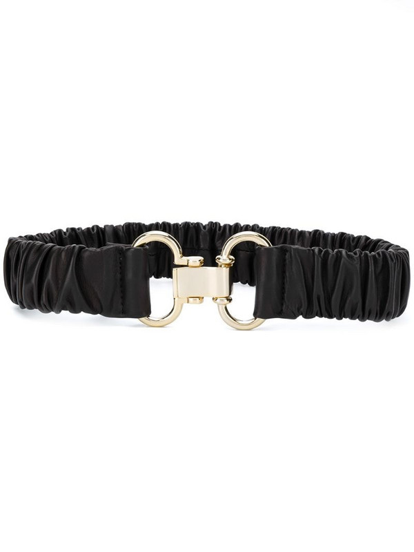 Sandro Paris crinkled leather belt in black