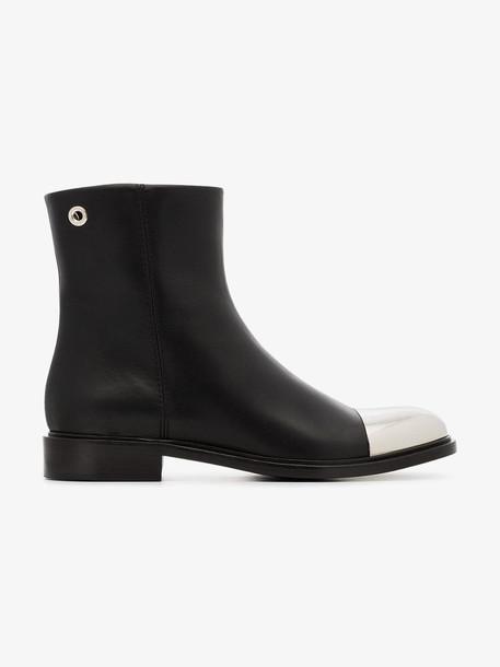 Proenza Schouler Metal Cap Toe Boots in black
