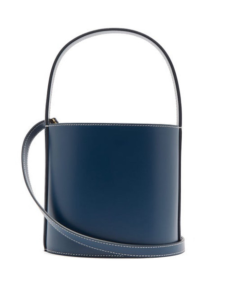 Staud - Bissett Leather Bucket Bag - Womens - Blue