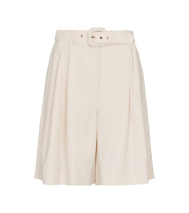 Zimmermann Botanica wool-blend Bermuda shorts in white