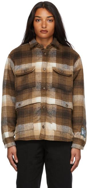 Reese Cooper Wool Flannel Jacket in brown