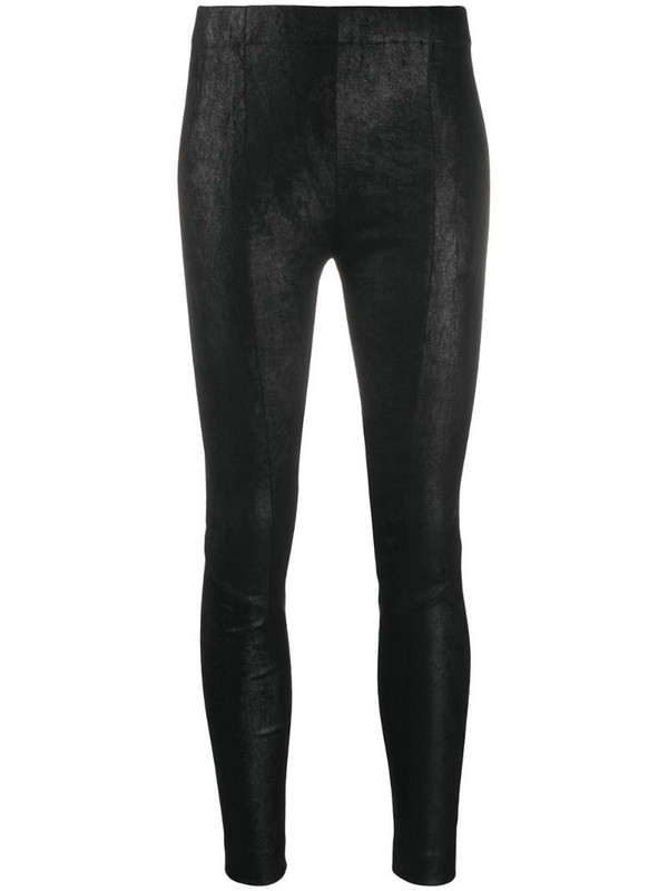Gentry Portofino skinny-fit leather trousers in black