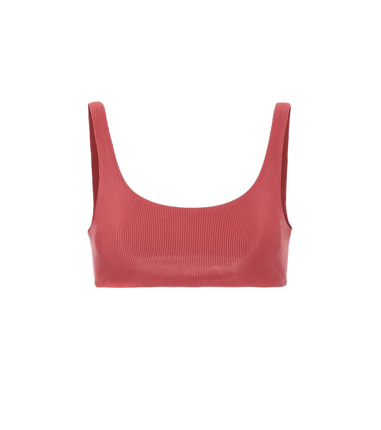 Jade Swim Rounded edges bikini top in red