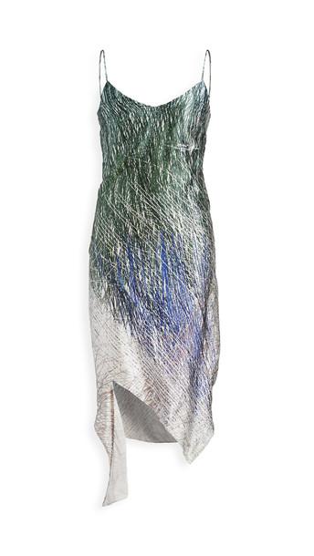 Off-White Bouroullec Spiral Slip Dress in black / grey