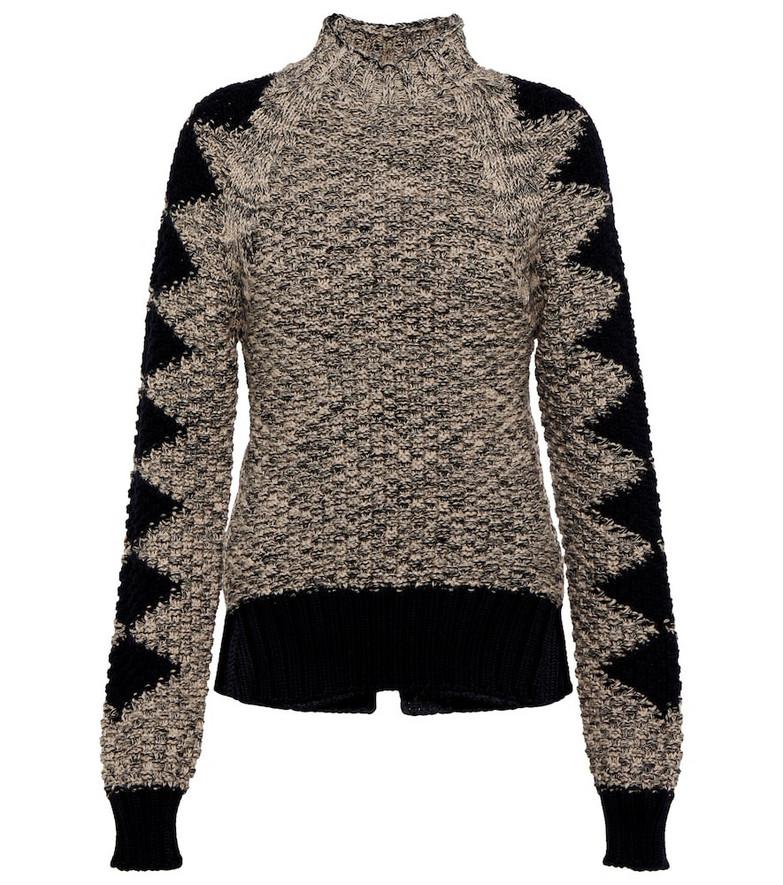 Victoria Beckham x The Woolmark Company wool intarsia wool sweater