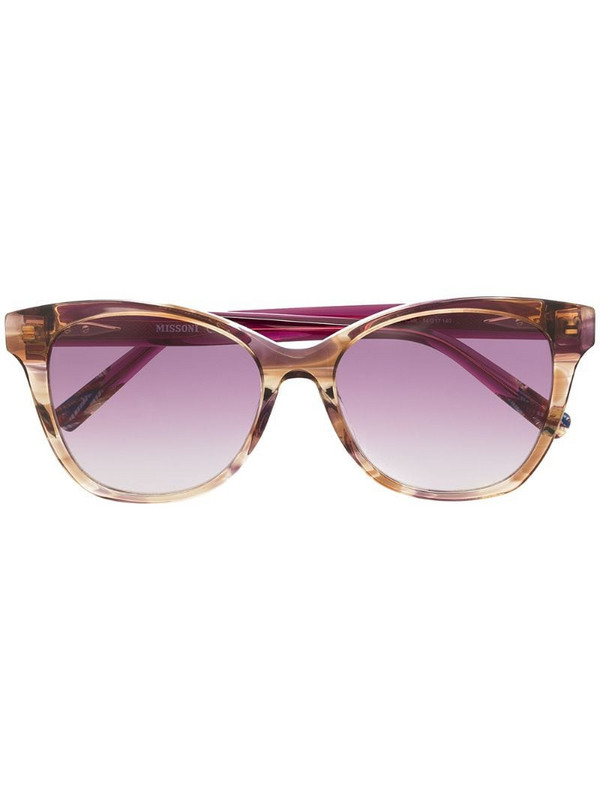 MISSONI EYEWEAR cat-eye frame sunglasses in neutrals