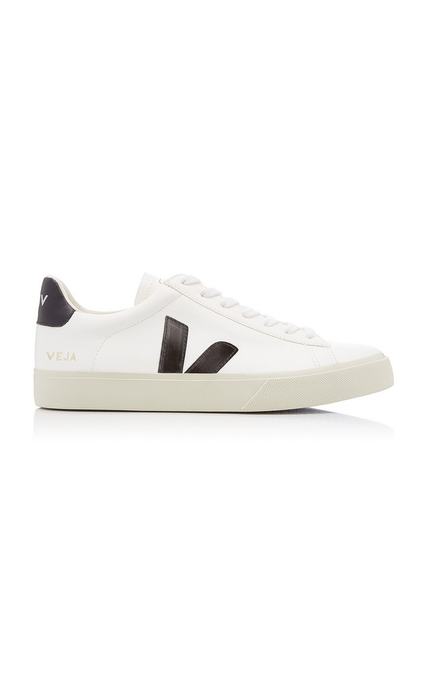 VEJA Campo Leather Low-Top Sneakers in black / white