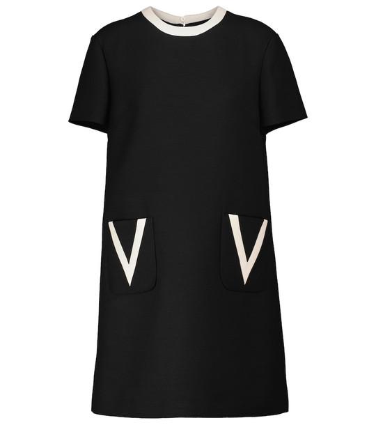 Valentino Wool and silk minidress in black