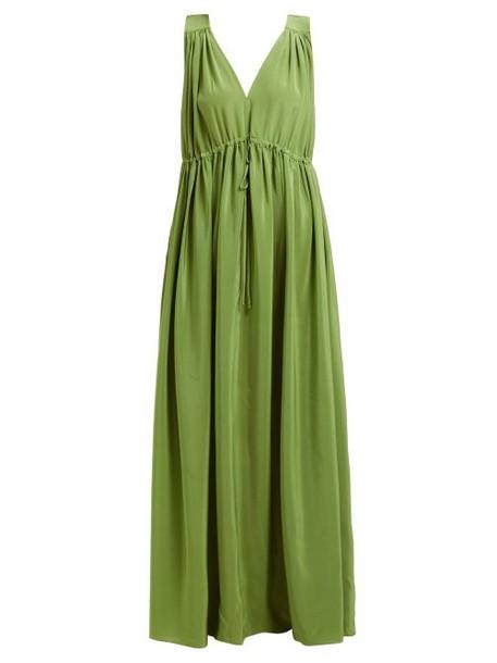 Three Graces London - Solaine Silk Maxi Dress - Womens - Green