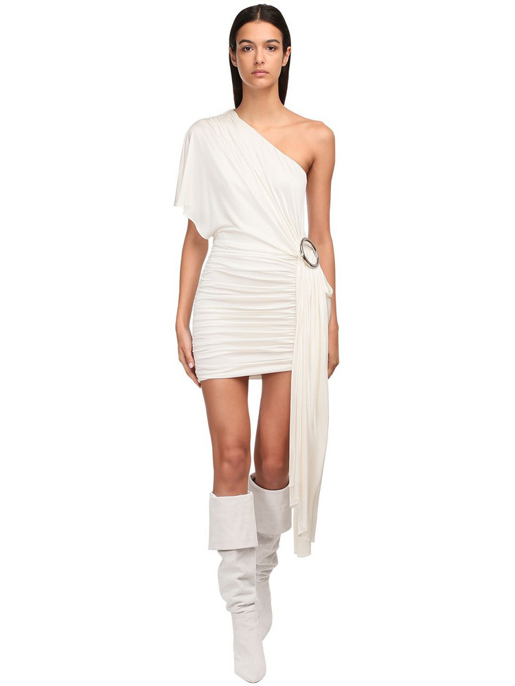 REDEMPTION One-shoulder Jersey Dress in white