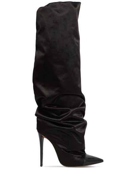 ALEXANDRE VAUTHIER 105mm Sasha Over-the-knee Satin Boots in black