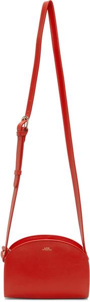 A.P.C. A.P.C. Red Mini Demi-Lune Bag