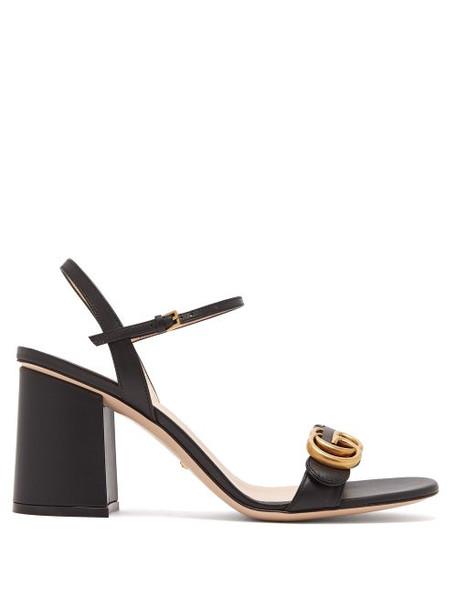 Gucci - Gg Marmont Block Heel Sandals - Womens - Black