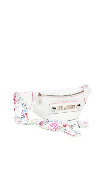 Moschino Belt Bag in white