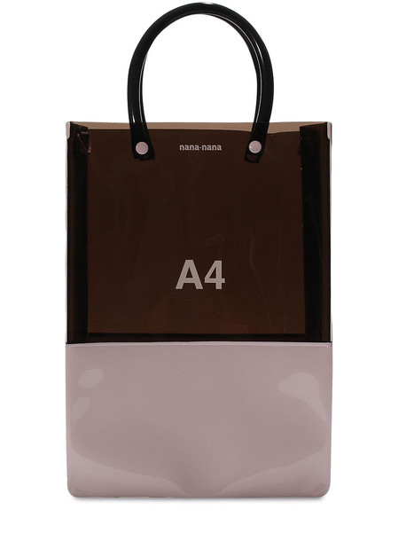 NANA NANA A4 Pvc Shopping Bag in black / pink