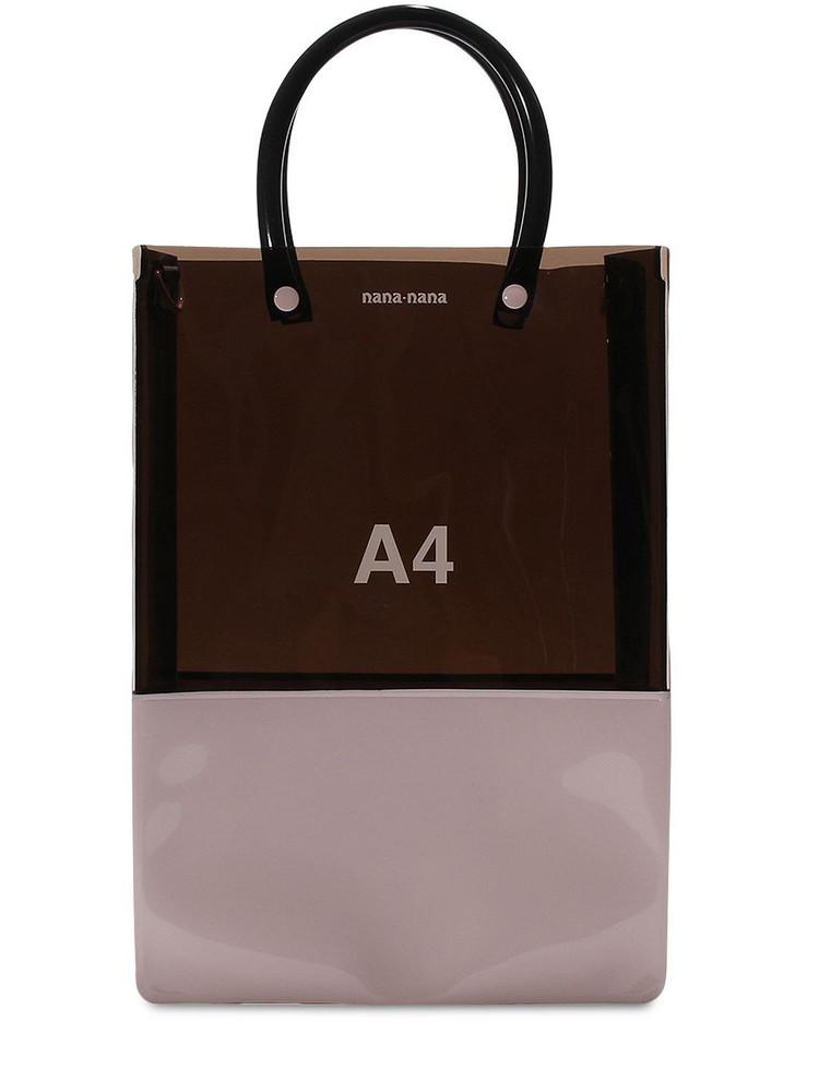 NANA NANA A4 Pvc Shopping Bag in black / pink