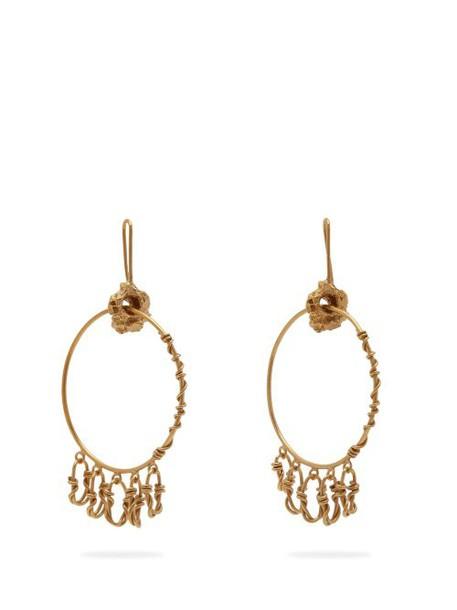 Orit Elhanati - Monika Gold Plated Hoop Earrings - Womens - Gold