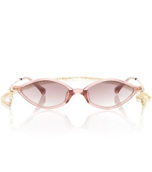 Alessandra Rich x Linda Farrow 3 C6 Angular sunglasses in brown