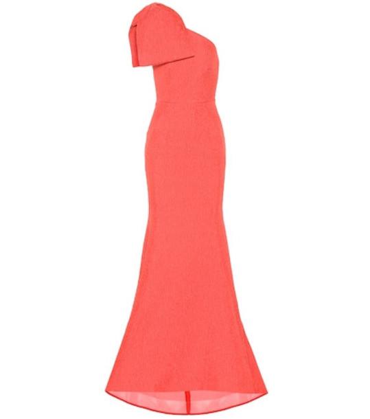 Rebecca Vallance Francesca one-shoulder gown in red