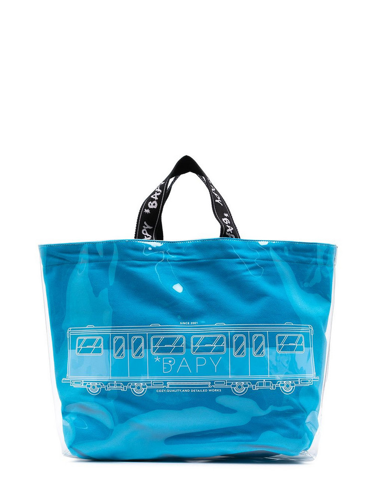 BAPY BY *A BATHING APE® BAPY BY *A BATHING APE® graphic-print tote bag - Blue