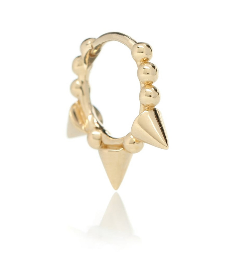 Maria Tash Triple Spike Clicker 14kt gold earring in metallic