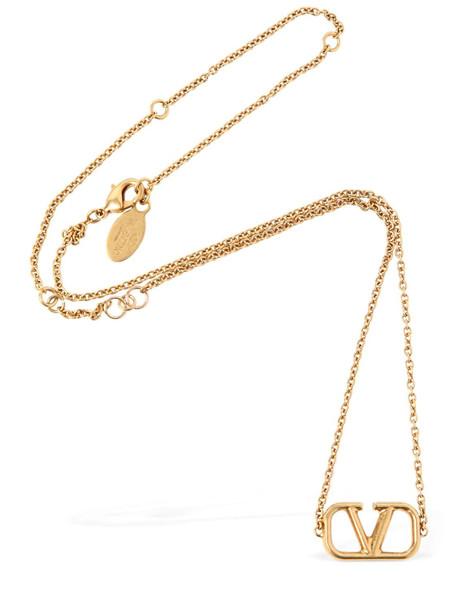 VALENTINO GARAVANI V Logo Necklace in gold