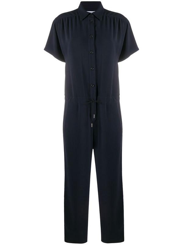 Brag-wette short sleeve utility jumpsuit in blue