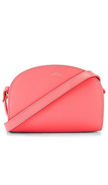 A.P.C. A.P.C. Sac Demi Lune Mini Bag in Pink