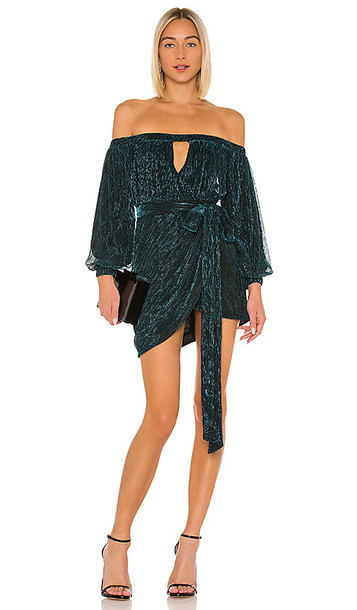 Michael Costello x REVOLVE Hemma Mini Dress in Blue