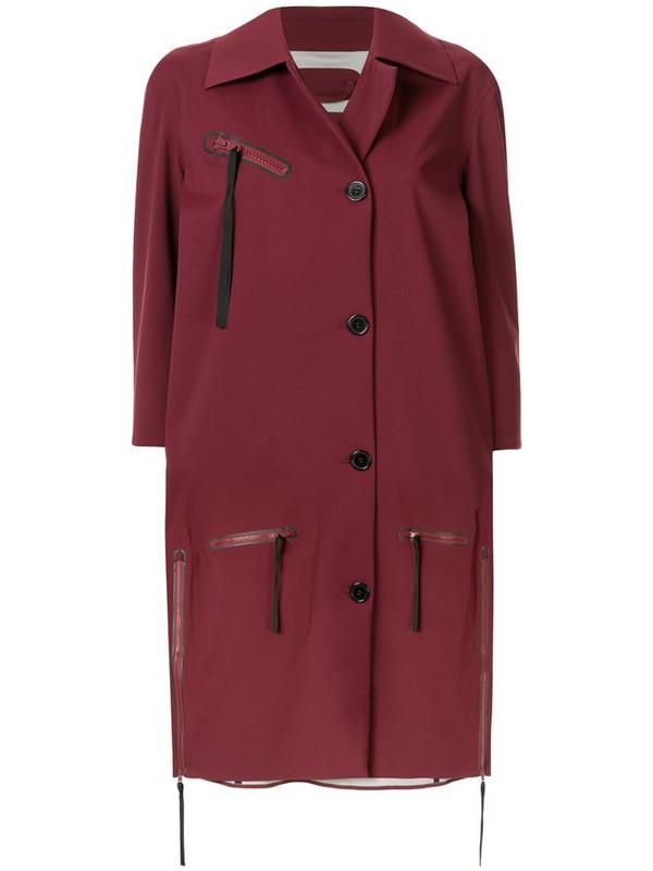 Yang Li oversized midi coat in red