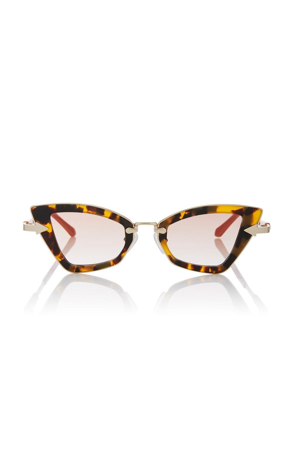 Karen Walker Bad Apple Square-Frame Tortoiseshell Acetate Sunglasses in brown