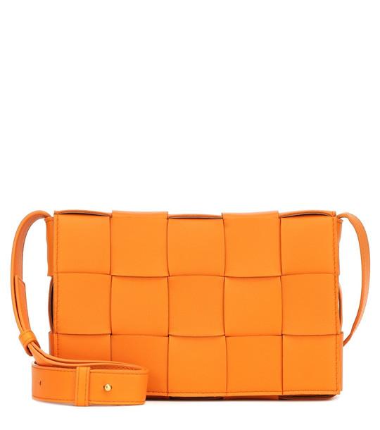 Bottega Veneta Cassette leather shoulder bag in orange
