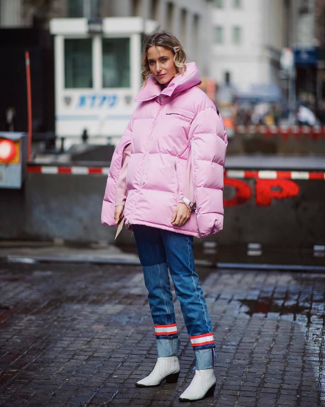 jacket oversized jacket pink jacket puffer jacket calvin klein white boots skinny jeans