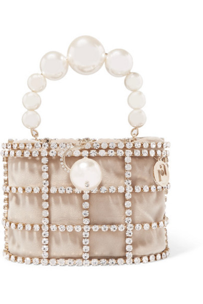 Rosantica - Holli Embellished Gold-tone And Velvet Tote - Neutral