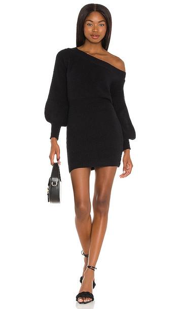 Line & Dot Rebecca Off Shoulder Dress in Black