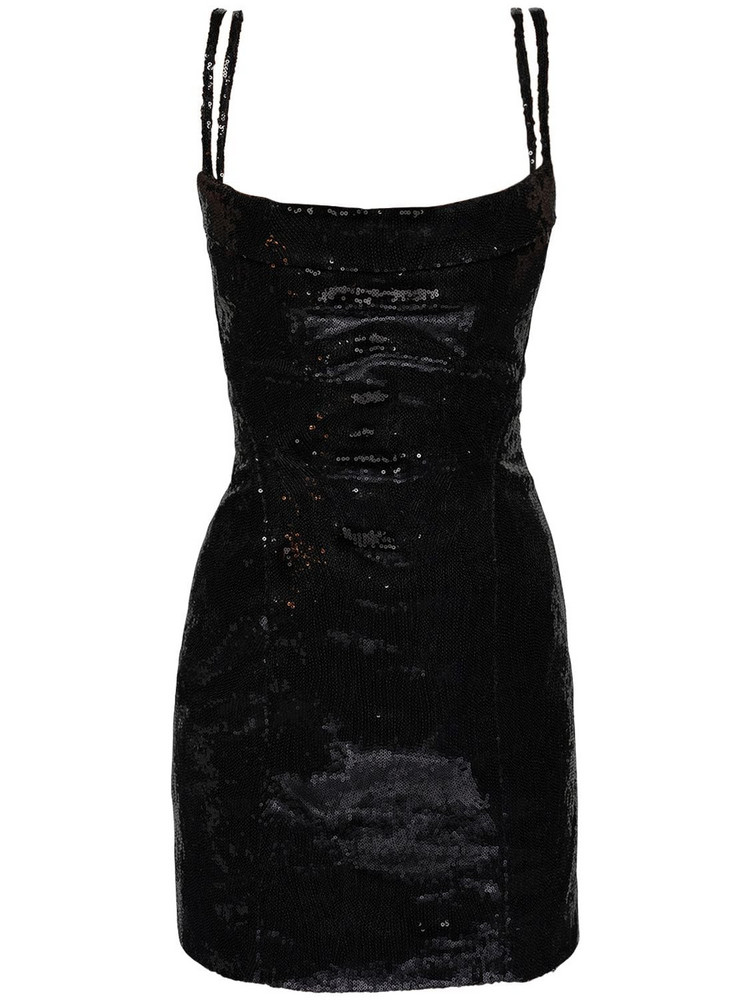 DSQUARED2 Sequined Bustier Mini Dress in black